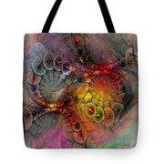 Alien Tundra - Square Version Tote Bag