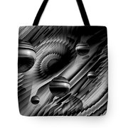 Alignment Of The Planets Bw Tote Bag