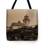 Alki Lighthouse Tote Bag