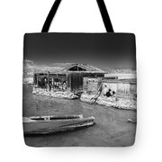 All Aboard Black And White Tote Bag