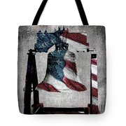 All American Liberty Bell Art_denim Tote Bag