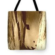 All Caught Up Sepia Tote Bag