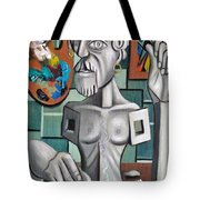 All In A Days Work Self Portrait Tote Bag