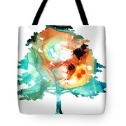 All Seasons Tree 1 - Colorful Landscape Print Tote Bag by Sharon Cummings