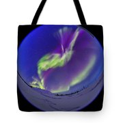 All-sky Aurora In The Twilight Tote Bag