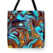 All That Jazz Abstract Tote Bag by Faye Symons