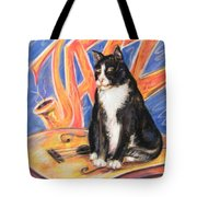 All That Jazz Cat Tote Bag