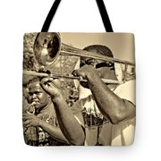 All That Jazz Sepia Tote Bag