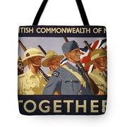 All The Commonwealth Countries Unite. Tote Bag