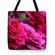 All The Fuchsia Pink Roses  Tote Bag