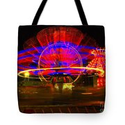 All The Rides Moving At Once Tote Bag