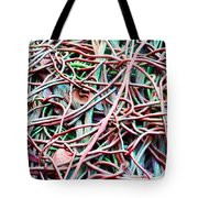 All Tied Up Abstract Art Tote Bag