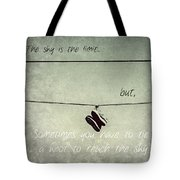 All Tied Up Inspirational Tote Bag
