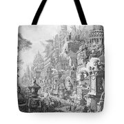 Allegorical Frontispiece Of Rome And Its History From Le Antichita Romane  Tote Bag