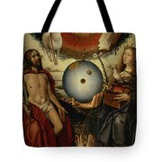 Allegory Of Christianity Oil On Panel Tote Bag