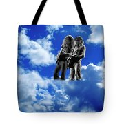 Allen And Steve In Clouds Tote Bag