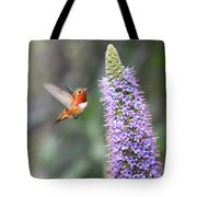 Allen Hummingbird On Flower Tote Bag