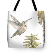 Allen's Hummingbird And Aloe Tote Bag
