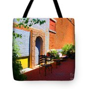 Alley Cafe Tote Bag