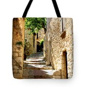 Alley In Eze, France Tote Bag