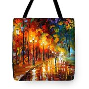 Alley Of The Memories - Palette Knife Oil Painting On Canvas By Leonid Afremov Tote Bag