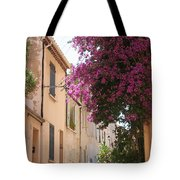 Alley With Bougainvillea - Provence Tote Bag