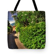 Alley With Green Plants Tote Bag