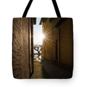 Alley With Sunbeam Tote Bag