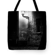 Alley Of Prague In Black And White Tote Bag