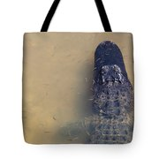 Alligator And Fishes Tote Bag