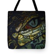 Alligator Eye Tote Bag