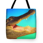 Alligator Head With Open Mouth Tote Bag