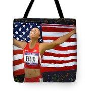 Allison Felix Olympian Gold Metalist Tote Bag