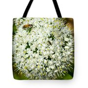 Allium Flower And Lightning Bug Tote Bag