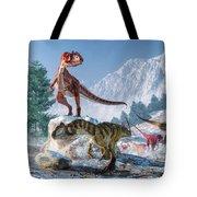 Allosaurus Pack Tote Bag
