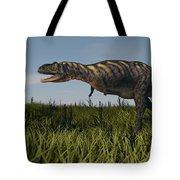 Alluring Aucasaurus In Grassland Tote Bag