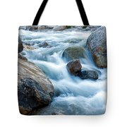 Alluvial Fan Falls On Roaring River Inrocky Mountain National Park Tote Bag
