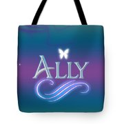 Ally Name Art Tote Bag