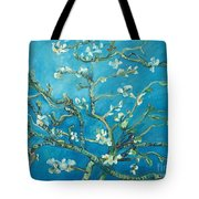 Almond Blossom Branches Print Tote Bag