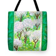 Almond Trees And Leaves Tote Bag