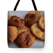 Almonds - Almond Butter - Crackers - Food Tote Bag