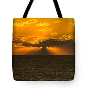 Almost Hidden Sunset  Tote Bag
