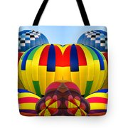 Almost Inflated Hot Air Balloons Mirror Image Tote Bag