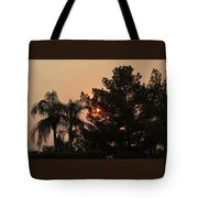Almosts Gone Now Sunset In Smoky Sky Tote Bag