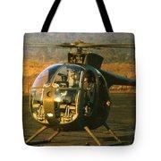 Aloha  Oh-6 Cayuse Light Observation   Helicopter Lz Oasis Vietnam 1968 Tote Bag