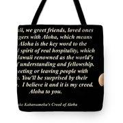 Aloha To You Tote Bag