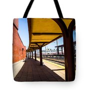 Alone At The Station Tote Bag