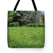 Alone In A Field Of Buttercups Tote Bag
