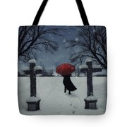 Alone In The Snow Tote Bag by Joana Kruse