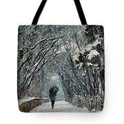 Alone In The  Winter Tote Bag